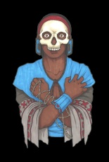 Mayan priest of Death – Black BG