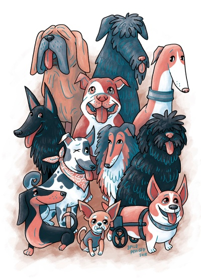 Rescue Dogs art print